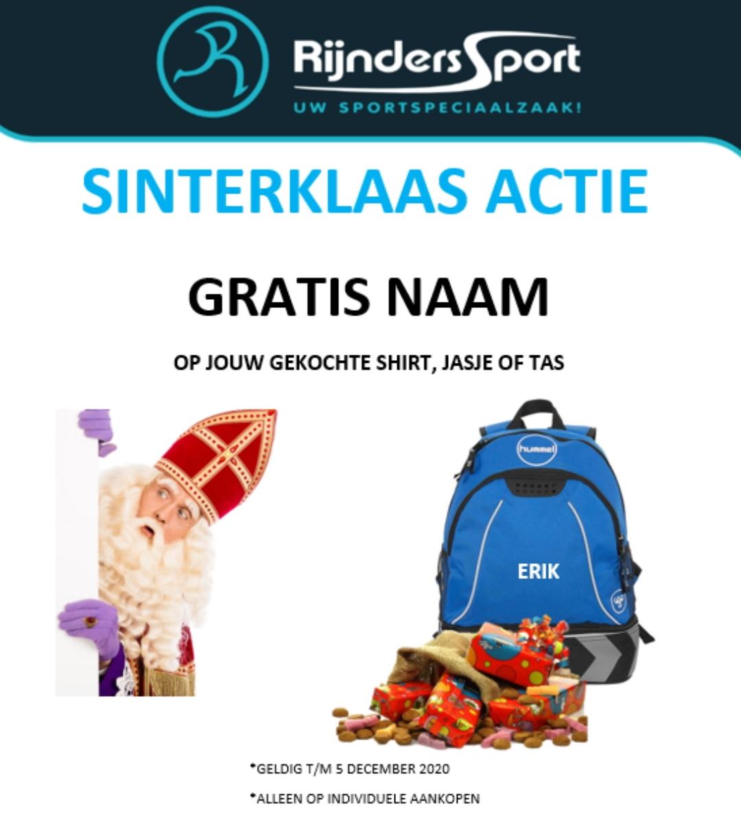 Sinterklaasactie Rijnders Sport