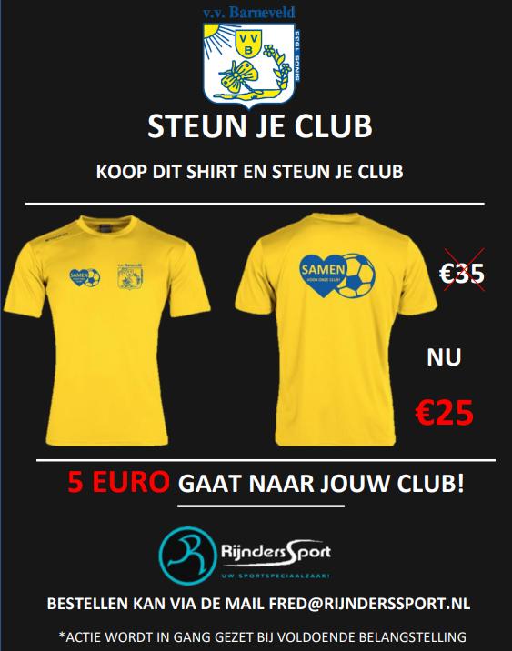 Steun je club shirt!