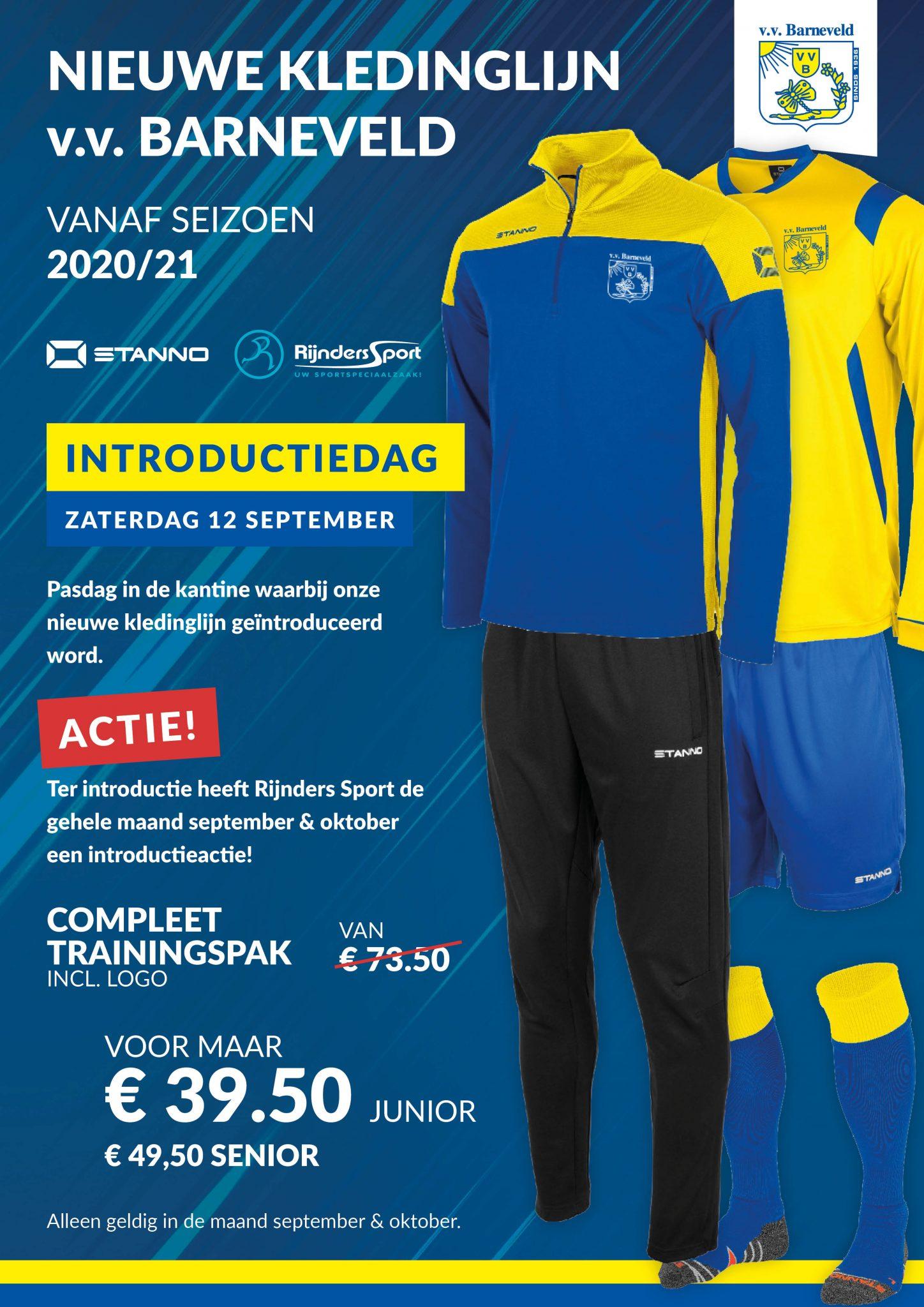 Introductie nieuwe kledinglijn 2020/2021